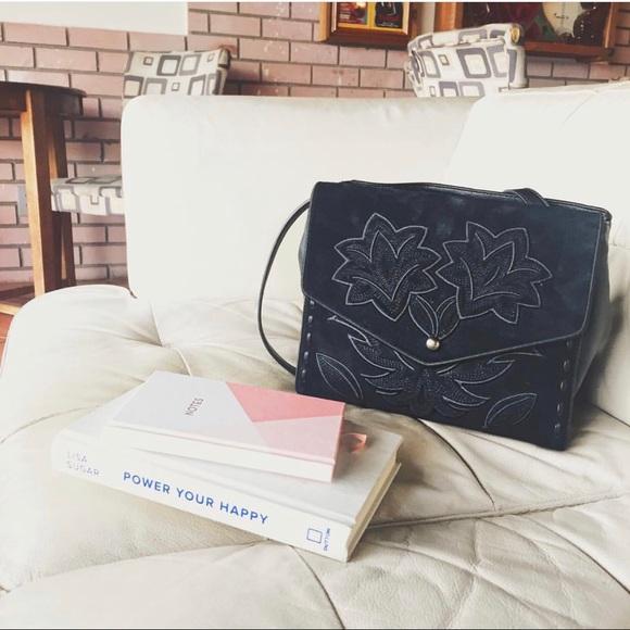 Sam Edelman Handbags - Sam Edelman Black Sophie Embroidered Shoulder Bag